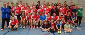 Groepsfoto badmintonclub Dibad