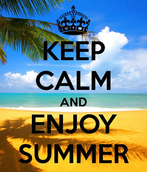 geniet van zomer stop